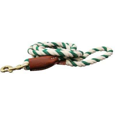 All Natural Leather & Cotton Rope Leash