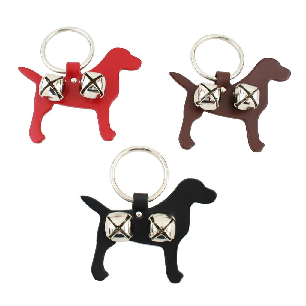Brown Lab Leather Doggie Training Bells