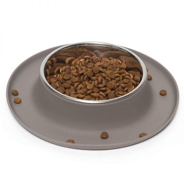 Stainless Dog Bowl with non-slip base