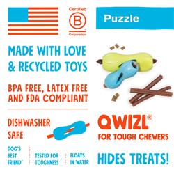 Qwizl Puzzle & Treat Toy for Dogs