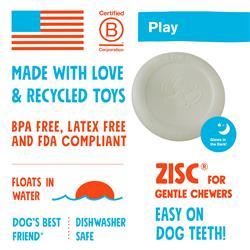 Zisc GLOW Durable Frisbee for Dogs - Play Toy