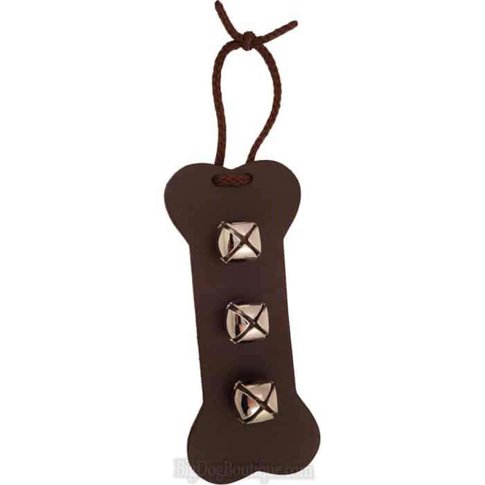 Bone Shaped Leather Dog Training Bell- Door Hanger training bells