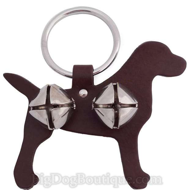 Labrador Leather Dog Door Bell Hanger- doggie training bells