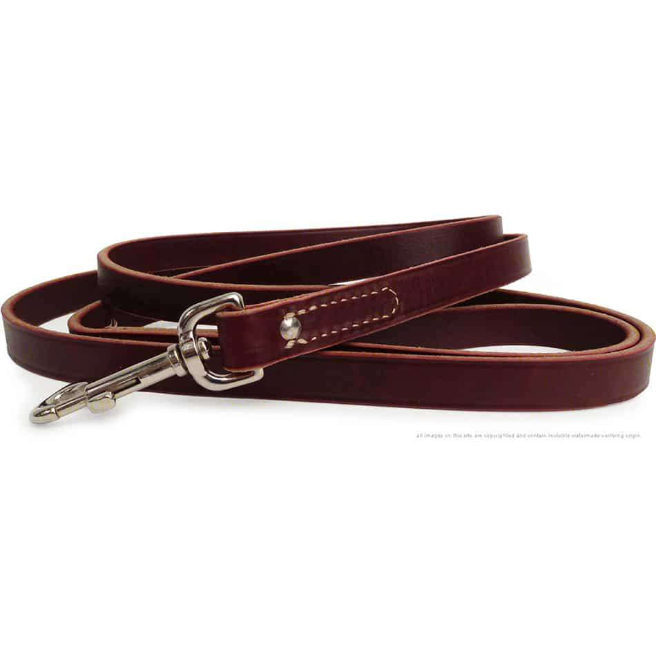Latigo Leather Dog Training Leash