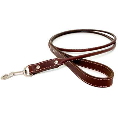 Rolled Leather Dog Leash- USA made