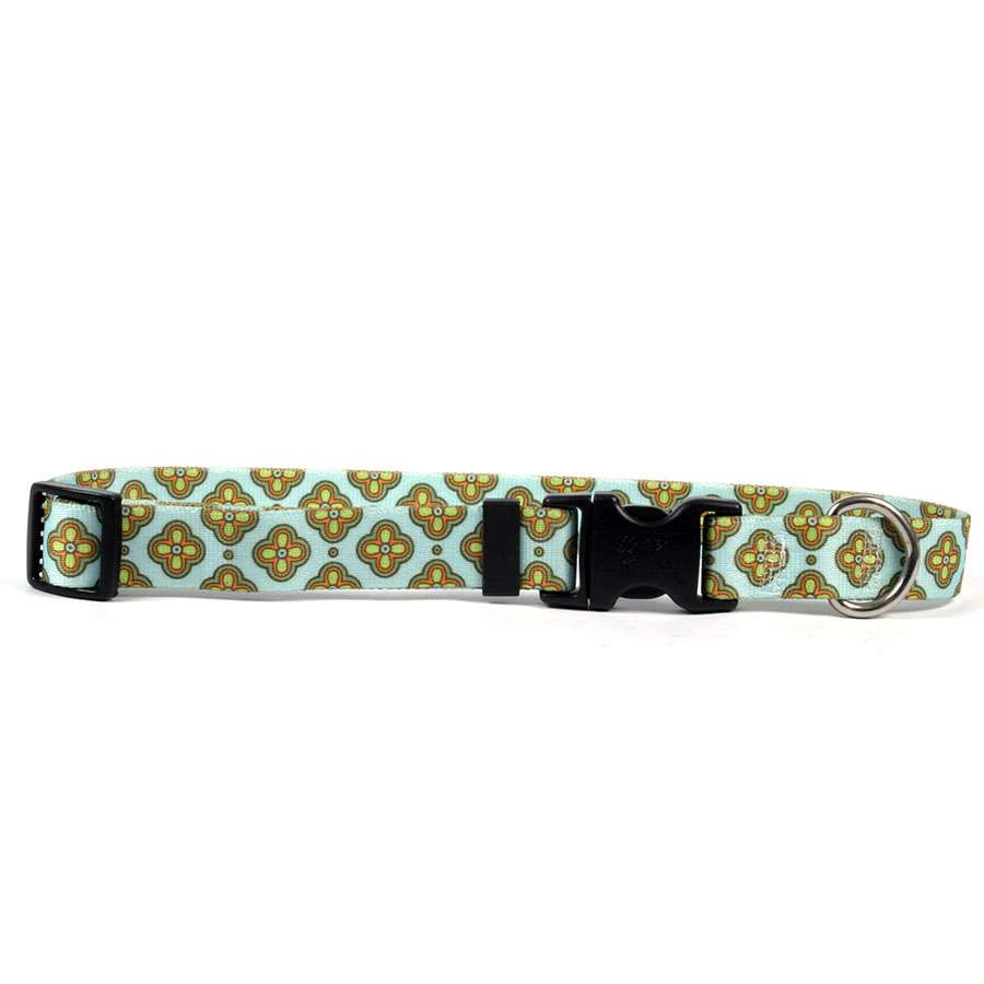 Cleo Ice Blue Dog Collar- adjustable or martingale