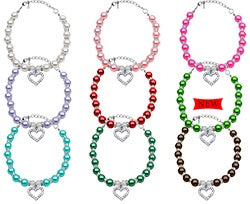Mirage Heart & Pearl Necklace for Dogs