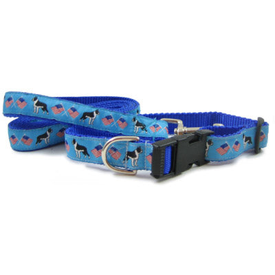 Boston Terrier Breed Dog Collar or Leash