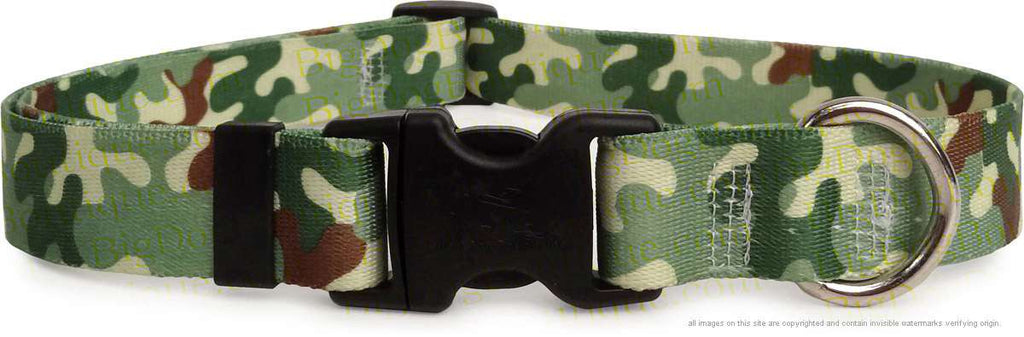 Green Camo Adjustable or Martingale Dog Collar
