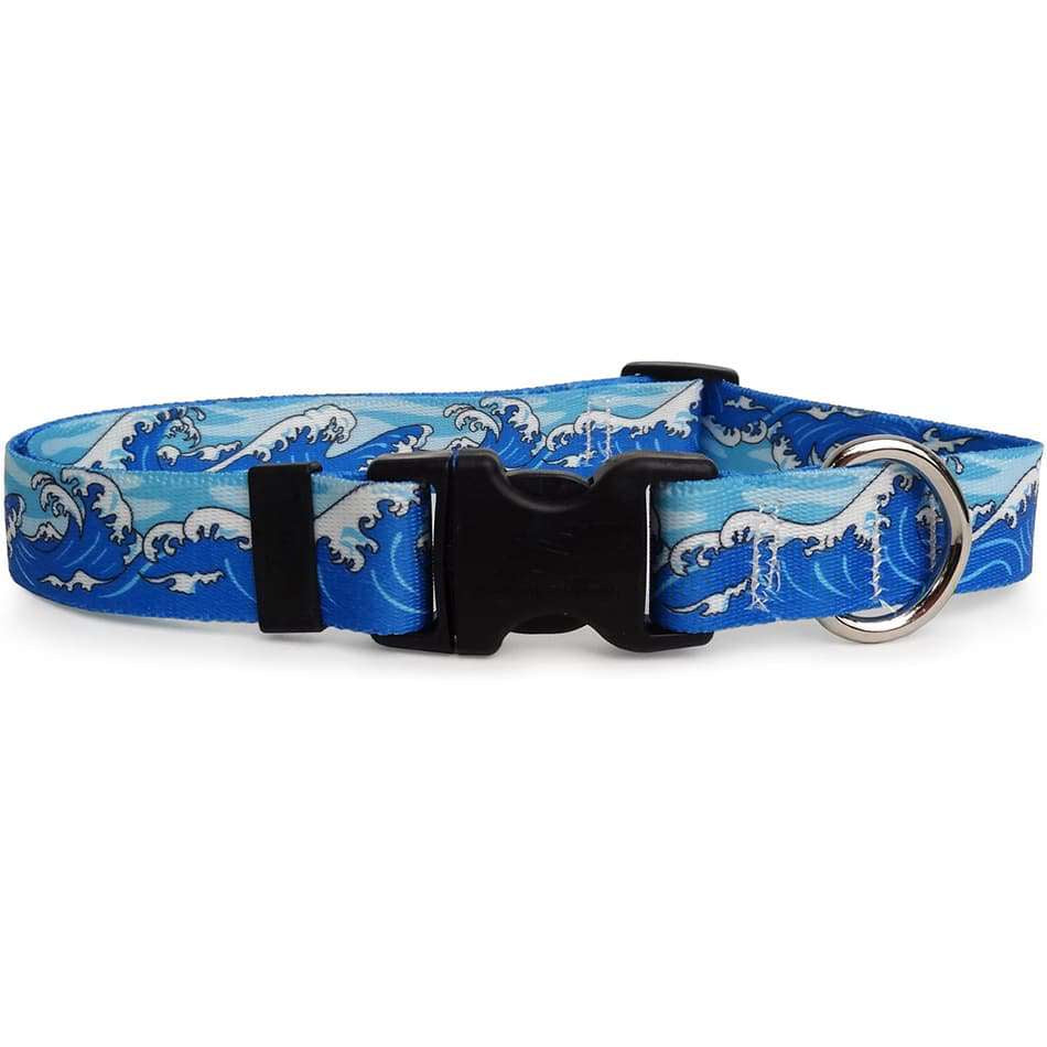 Mystic Ocean Waves Dog Collar