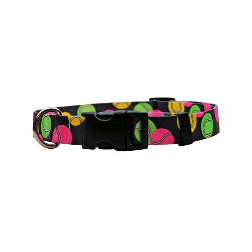 Neon Tennis Balls Dog Collar- adjustable or martingale