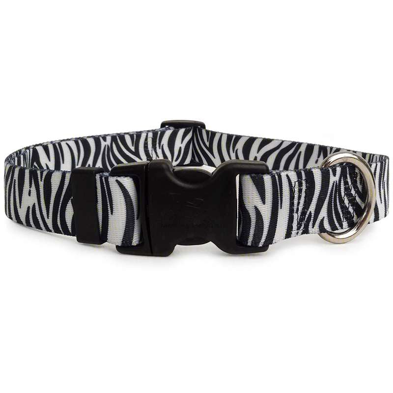 Black and White Zebra Dog Collar