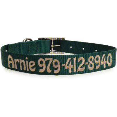 Custom Embroidered Dog Collar- personalized nylon collar