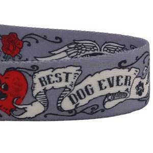 Best Dog Ever Tattoo Dog Collar