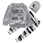 Babies - Babies 3-Piece Adore Me Don't Bore Me Outfit - Choose Your Size!