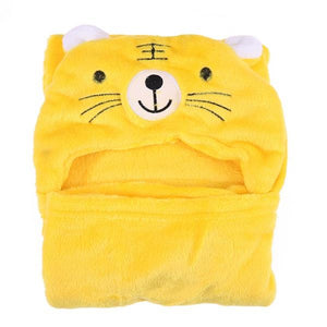 Baby Clothes - Baby Hooded Cartoon Bathrobe Blanket