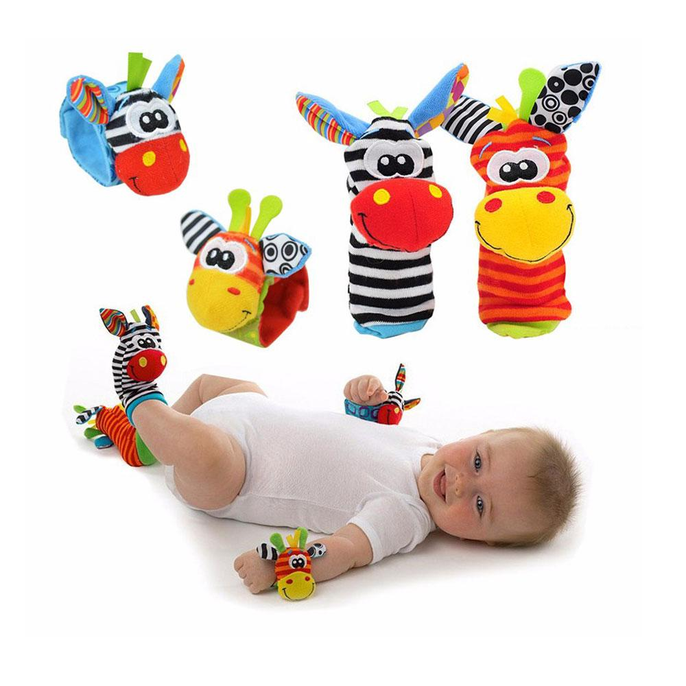 Baby Socks - Cartoon Baby Rattle Socks