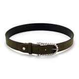 Forest Suede Twisted Bit Belt