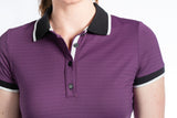 Kaley Short Sleeve Polo Aubergine
