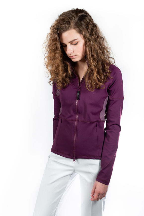 Ryder Warm Up Jacket Aubergine