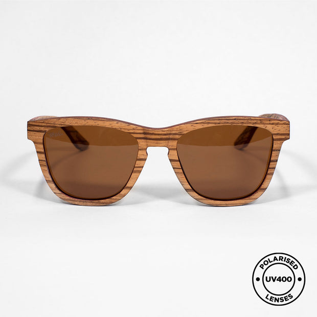 BEACH - Handmade Wooden Sunglasses. Polarised UV400 lenses
