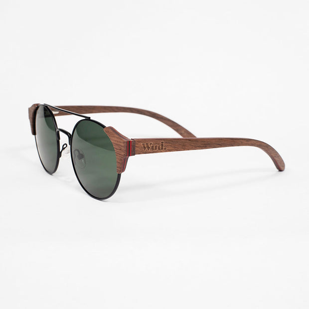 BOB - Handmade Wooden Sunglasses. Polarised UV400 lenses