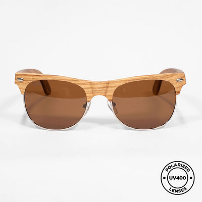 CALI - Handmade Wooden Sunglasses. Polarised UV400 lenses
