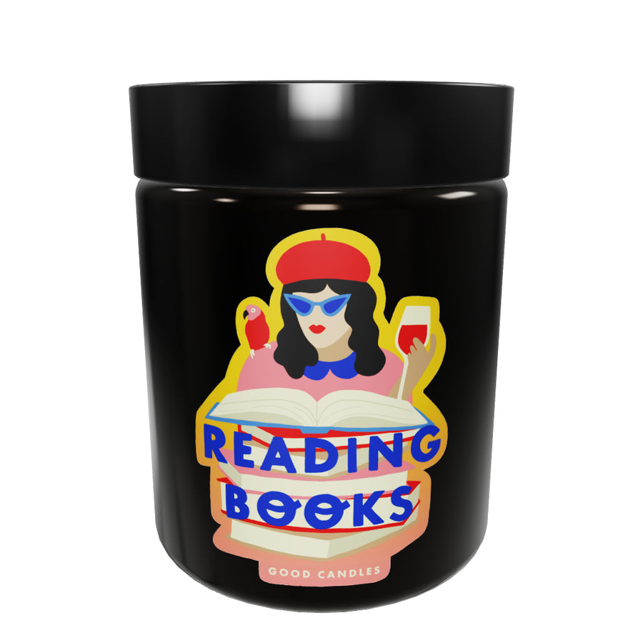 Medium Reading Books Soy Wax Scented Candle