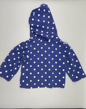 Load image into Gallery viewer, CC Blue Polka Dot Three-Button Sweater 12M