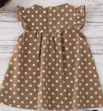Load image into Gallery viewer, Brown Polka Dot Baby & Toddler Dress