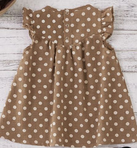 Brown Polka Dot Baby & Toddler Dress