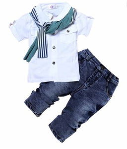 Casual Cool Boys Shirt and Jeans Set