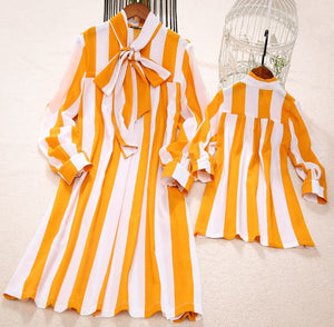 Mommy & Me Marigold Striped Dress