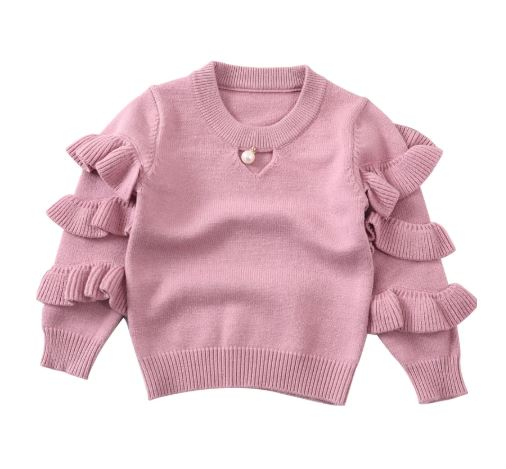 Pearl Ruffle Sweater