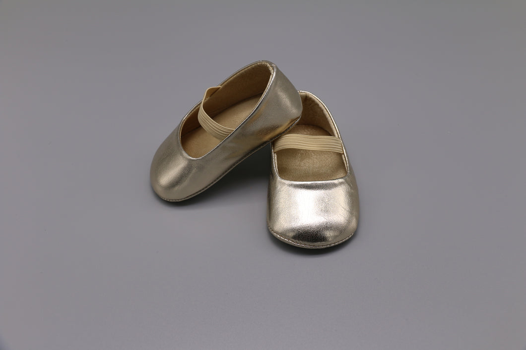 CC Gold Baby Mary Janes - 0/6M