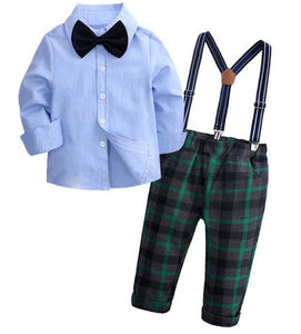 Plaid Pant Suspender Set