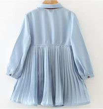 Load image into Gallery viewer, Powder Blue Pleated Dress