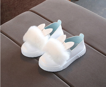 Load image into Gallery viewer, Pompom Bunny Ears Slip-on Sneakers
