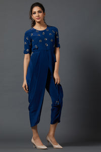 Dhoti Jumpsuit - Blue
