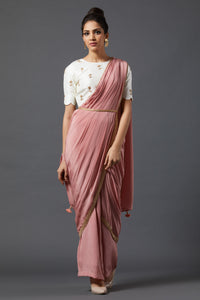 Drape Saree - Peach
