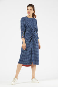 Knot Dress - Blue