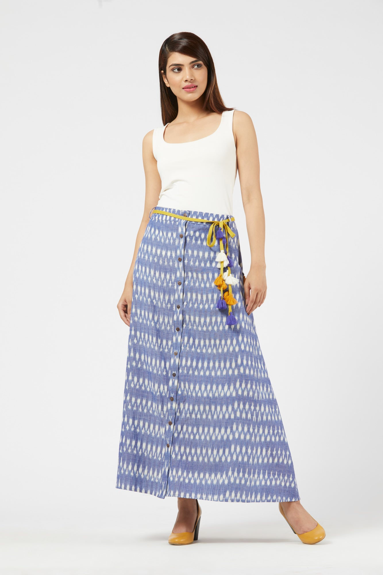 Ikat Skirt - Blue