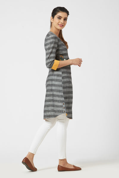 Striped Tunic - Black