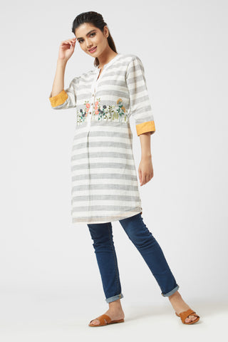 Striped Tunic - White