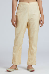 Striped straight pants - Off White