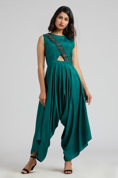 Jumpsuit - Emerald Green