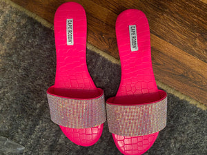Hot Pink Bling Sandals