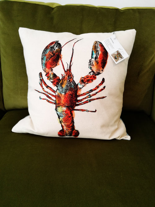 Lobster Cushion by Jean Frame