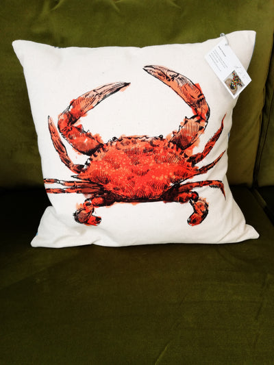 Crab Cushion by Jean Frame