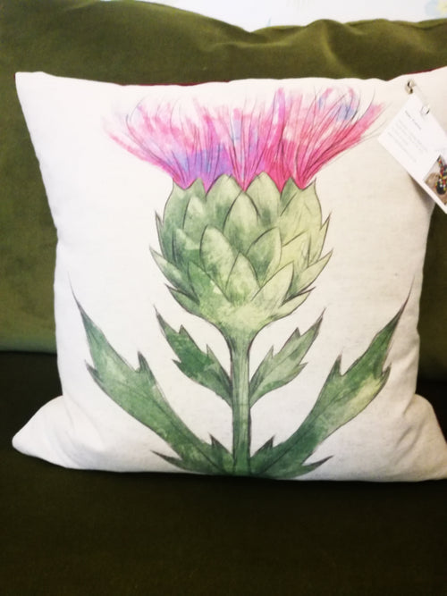 Thistle Cushion by Jean Frame